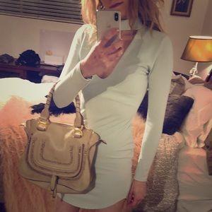 Missguided Long Sleeve Choker Dress